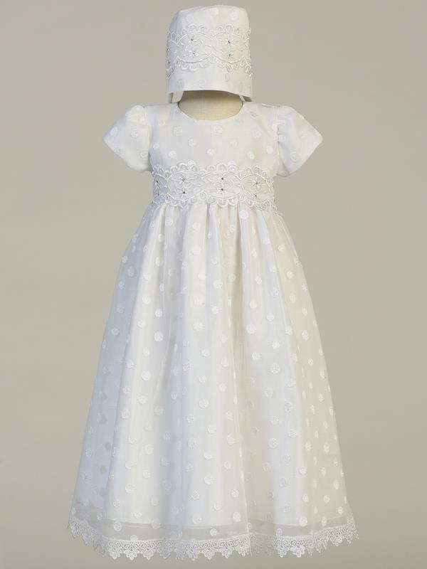 Girls Christening & Baptism White Gown - Coco - Malcolm Royce