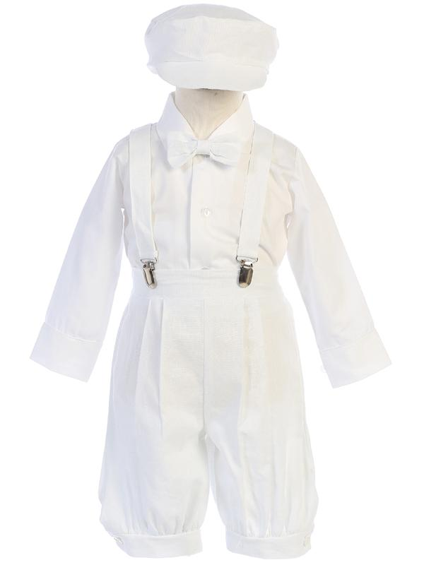 Toddlers White Knickers Outfit with Suspenders G827 - Malcolm Royce