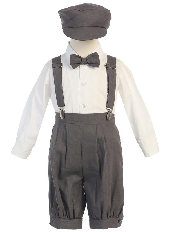 Toddlers Charcoal Knickers Outfit with Suspenders G827 - Malcolm Royce