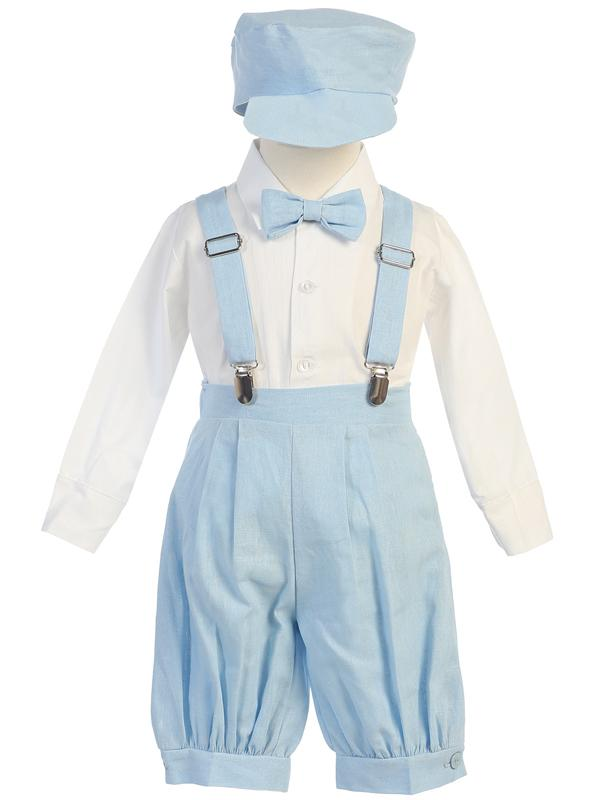Toddlers Light Blue Knickers Outfit with Suspenders G827 - Malcolm Royce
