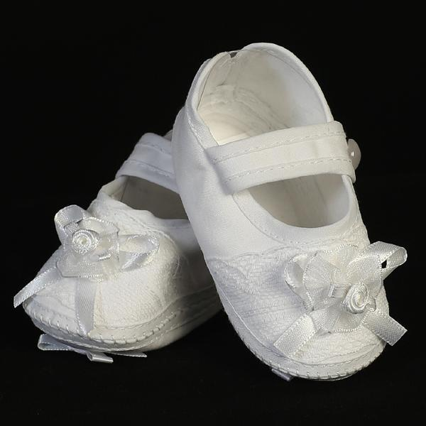 Cotton Girl's Christening Bootie (206) - Malcolm Royce
