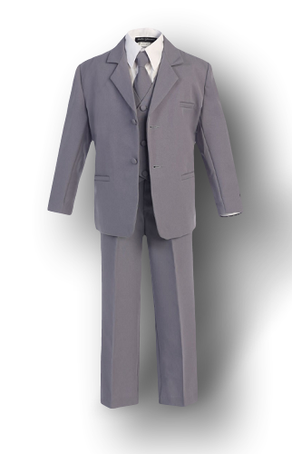 Gray, Formal Boys Suit - Malcolm Royce Formal Wear