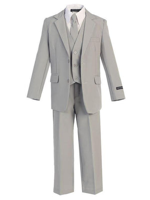Full outfit of boys formal gray suit