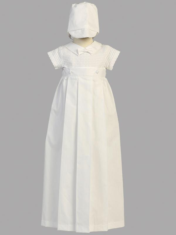 Mason - Baby Boys Baptism Christening Gown & Romper - Malcolm Royce