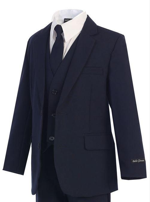 Slimmer Fit Boys Navy Suit