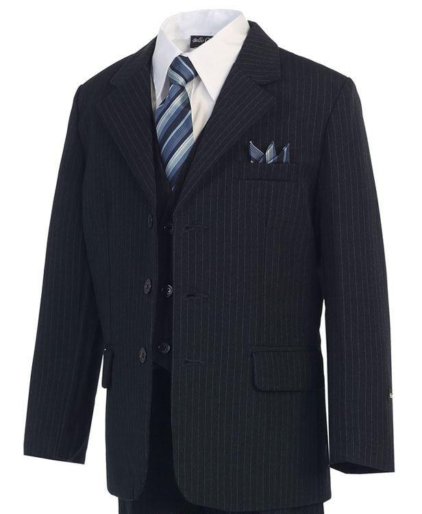 Dark Navy w/ Pinstripe - Formal Boys Suit
