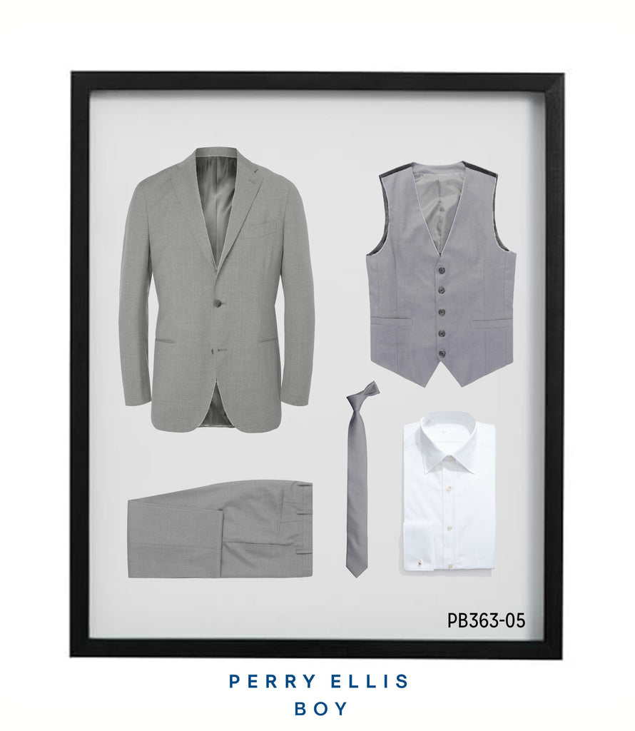 Perry Ellis Boys Suit Lt Grey Suits For Boy's - Malcolm Royce