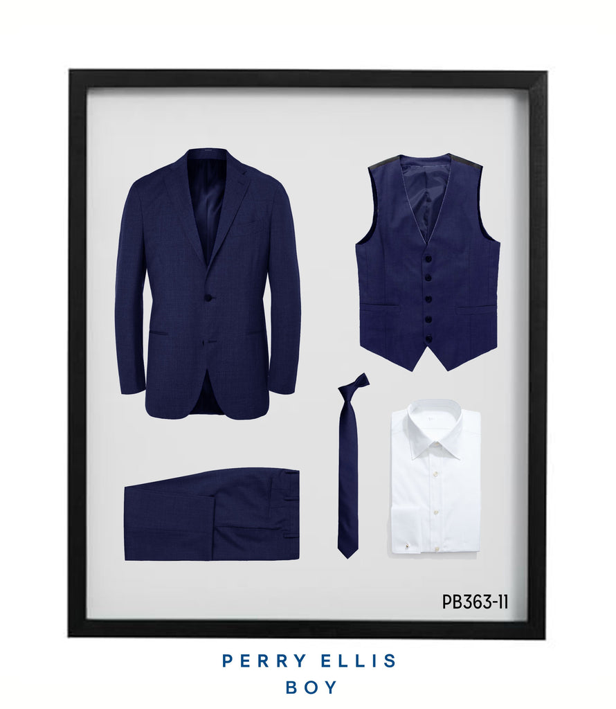 Perry Ellis Boys Suit Navy Suits For Boy's - Malcolm Royce