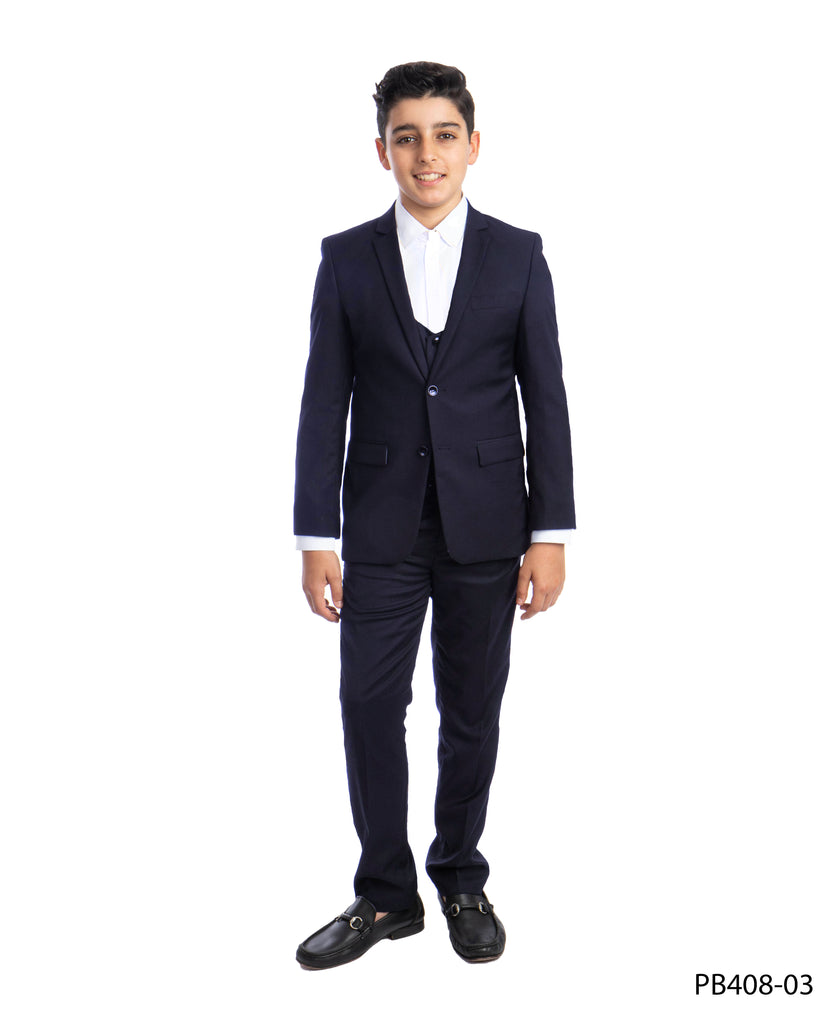 Navy 3 Piece Perry Ellis Suits For Boys PB408-03 - Malcolm Royce