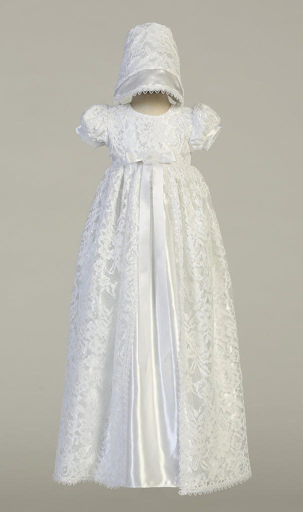 Girls Baptism & Christening White Gown - Suzana - Malcolm Royce