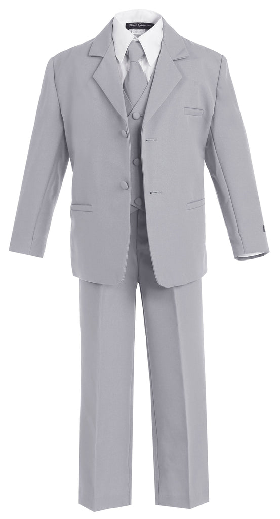 Classic Formal Boys Light Grey Suit - Malcolm Royce