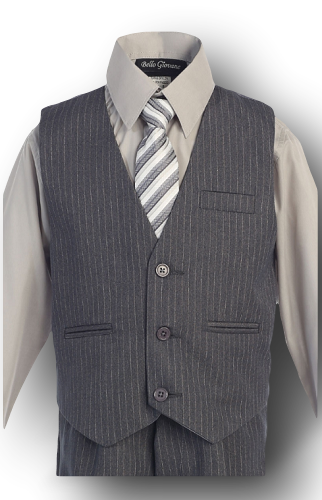 Gray w/ pinstripe, Formal Boys Suit, kids, Infants, and Toddlers