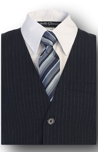 Navy blue w/ pinstripe, Formal Boys Suit, kids, Infants, and Toddlers