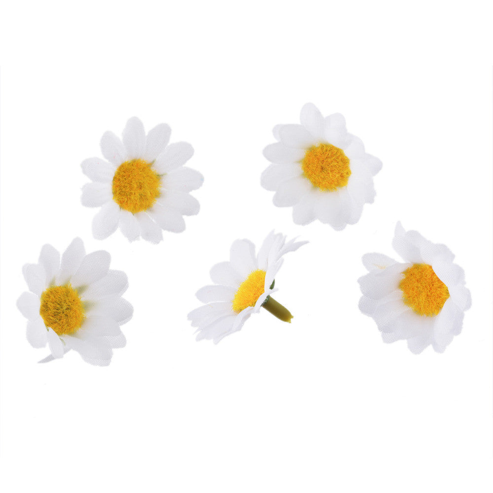 One Packet Of Mini White Daisy Flower Artificial Silk For Wedding