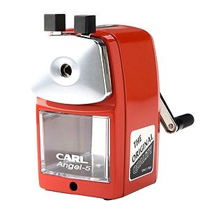CARL Angel-5 Pencil Sharpener - Red