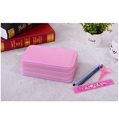 HITOP 4 Layers High Capacity Pencil Case - Pink