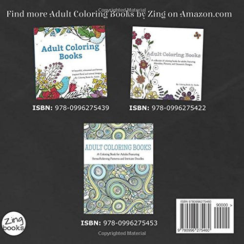"""Mandalas and Henna"" - Adult Coloring Books"