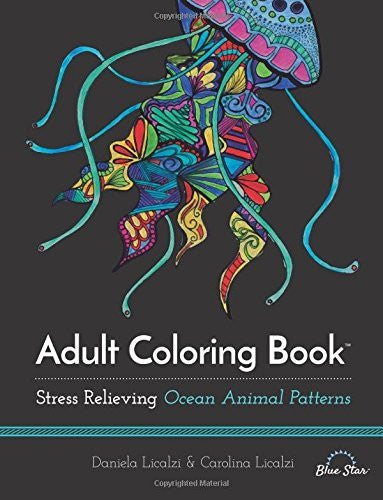 """Ocean Animal Patterns"" - Adult Coloring Book"