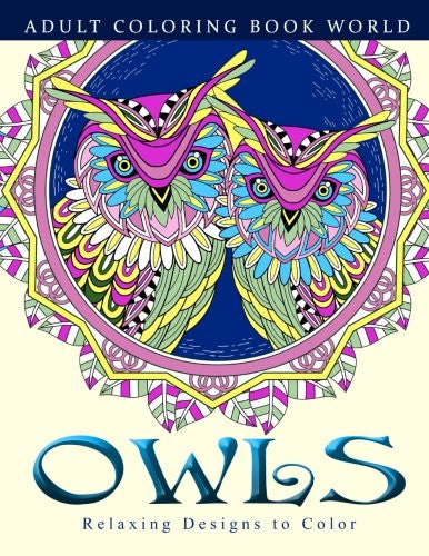 """Owls"" - Adult Coloring Books"