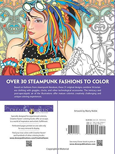 "Creative Haven ""Steampunk Fashions"" - Coloring Book"