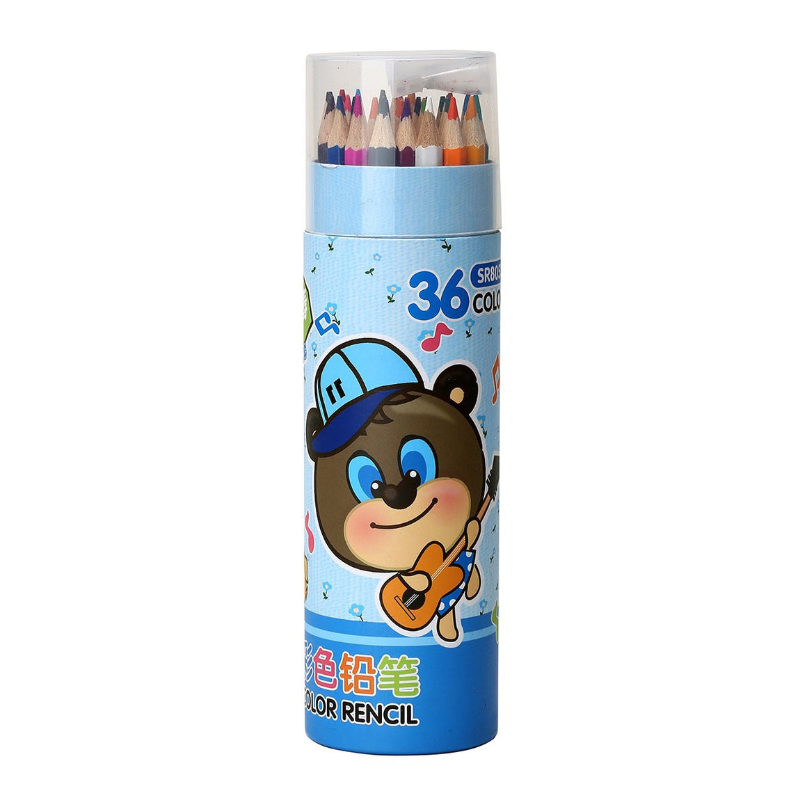 KALE Colored Pencils with Sharpener - 36 Pieces/Blue