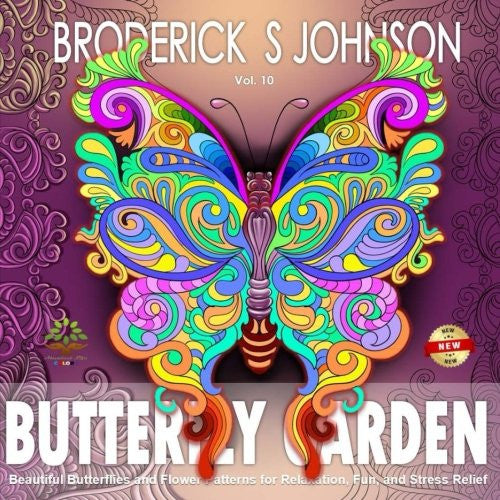"""Butterfly Garden""- Adult Coloring Book Volume 10"