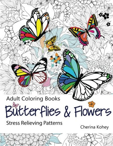 """Butterflies and Flowers"" - Adult Coloring Book Volume 7"