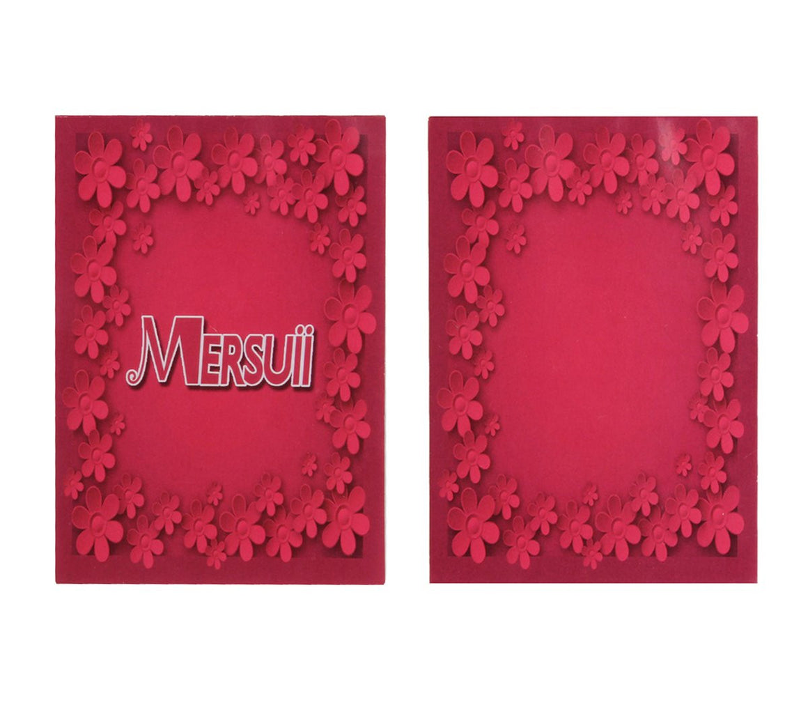 MERSUII Cute Sweety Floral Pencil Case - 4 set
