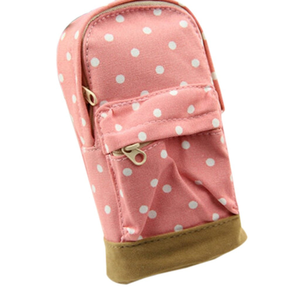 Portable Mini School Bag Pencil Case - Pink