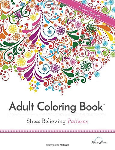"""Stress Relieving Patterns"" - Adult Coloring Book"