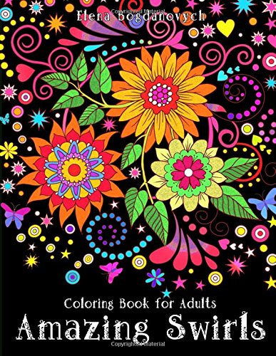 """Amazing Swirls"" - Coloring Book for Adults"