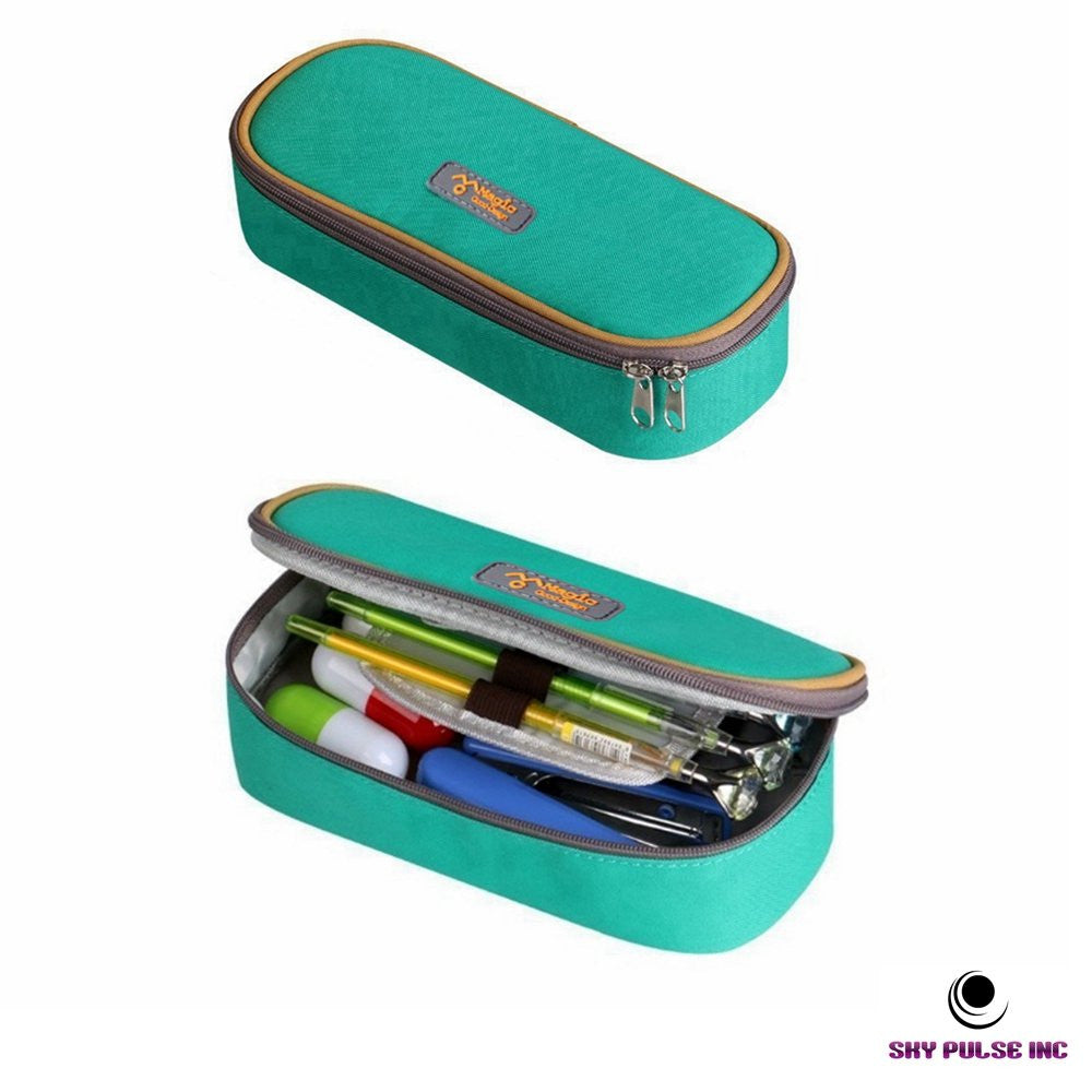 Sky Pulse Pencil Case - Green
