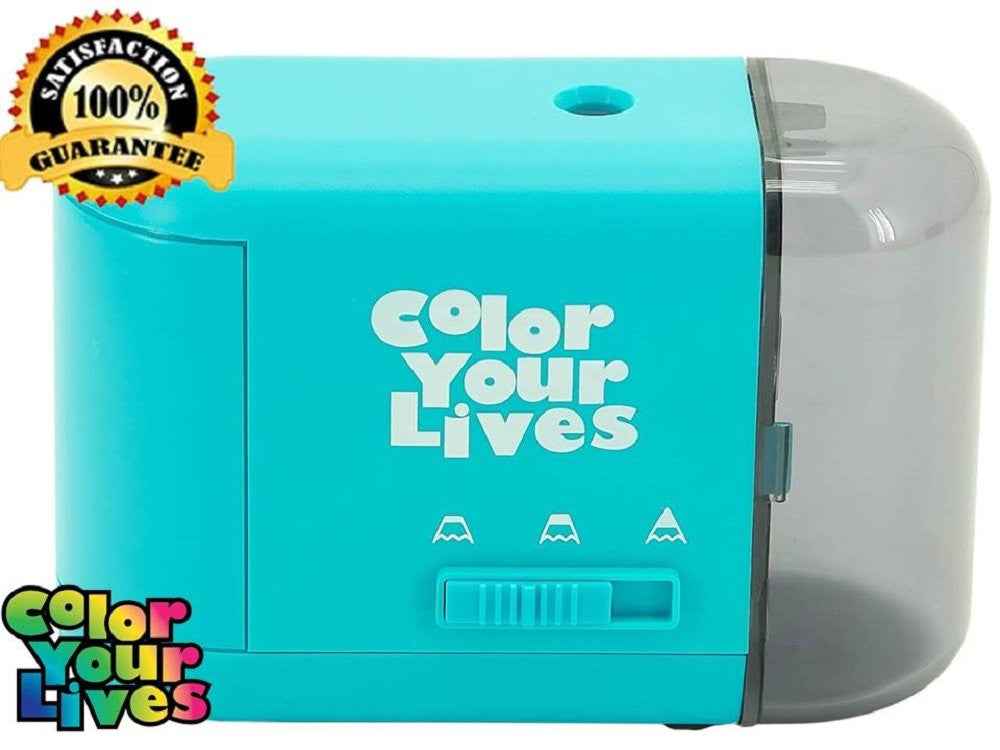 Pencil Sharpener Electric and Battery Operated - Blue