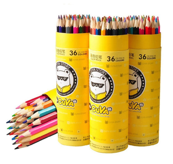 APAS 36 Assorted Colors Colored Pencils Set