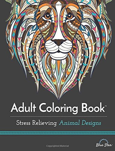 """Stress Relieving Animal Designs"" - Adult Coloring Book"