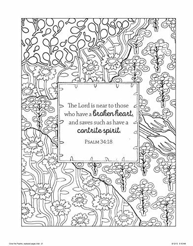 """Color the Psalms"" - Adult Coloring Book"
