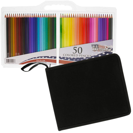 US Art Supply Colored Pencils 50 Pieces