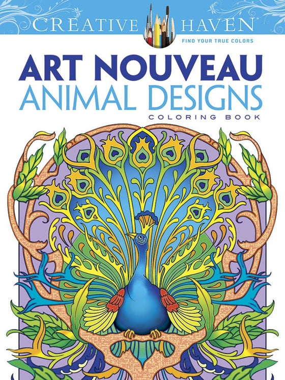 """Art Nouveau Animal Designs"" - Coloring Book"