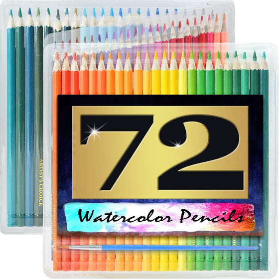 Artist's Choice 72 Pack Watercolor Colored Pencils