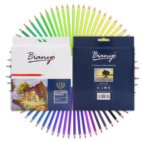 Bianyo Soft Core Oil Colored Pencils - 72 Colors