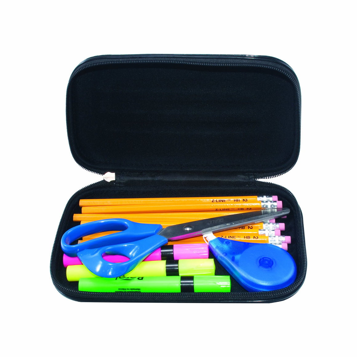 ADVANTUS Large Soft Sided Pencil Case - Black