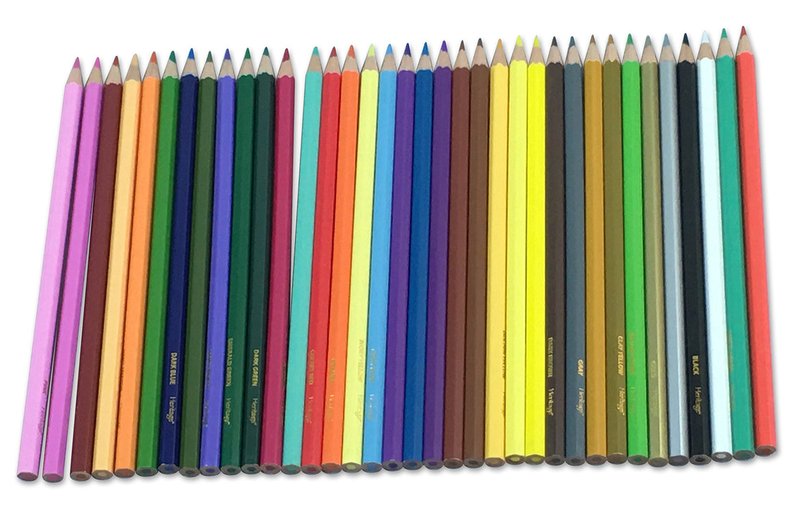Bundle -36 Colored Pencils and Pencil Sharpener