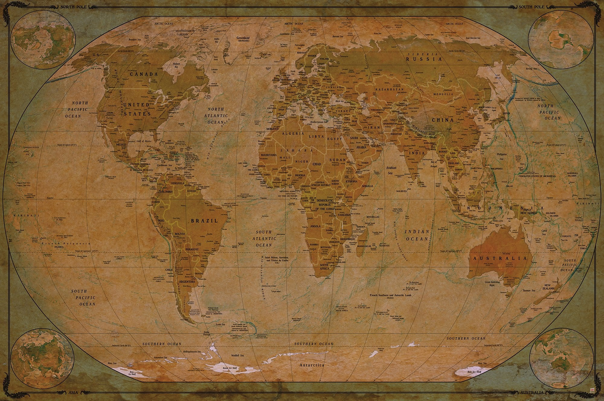 World map atlas globus historic world map photo wallpaper world map atlas globus historic world map photo wallpaper vintage retro motif xxl gumiabroncs Gallery