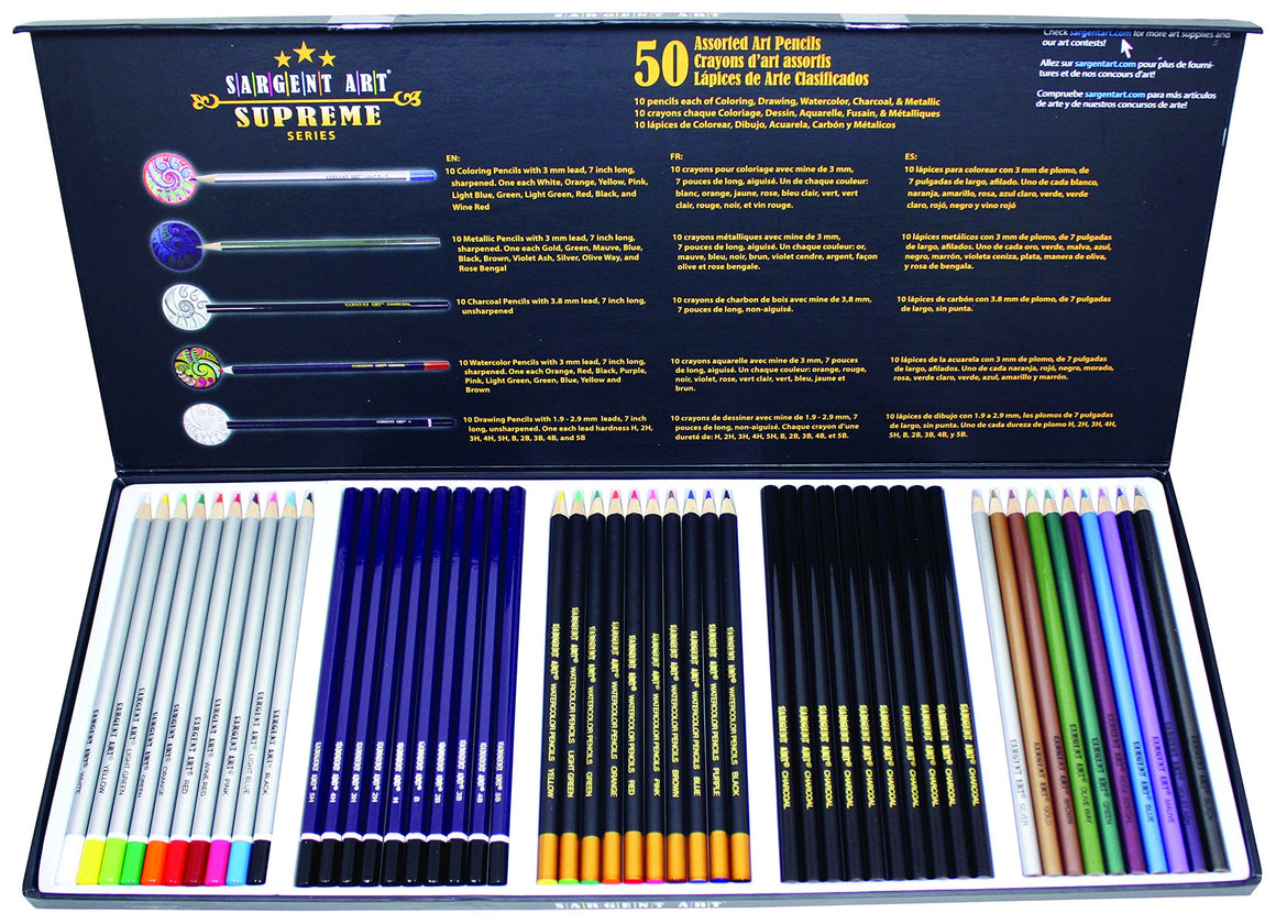 Sargent Art Supreme Colored Pencils - 50 Pieces