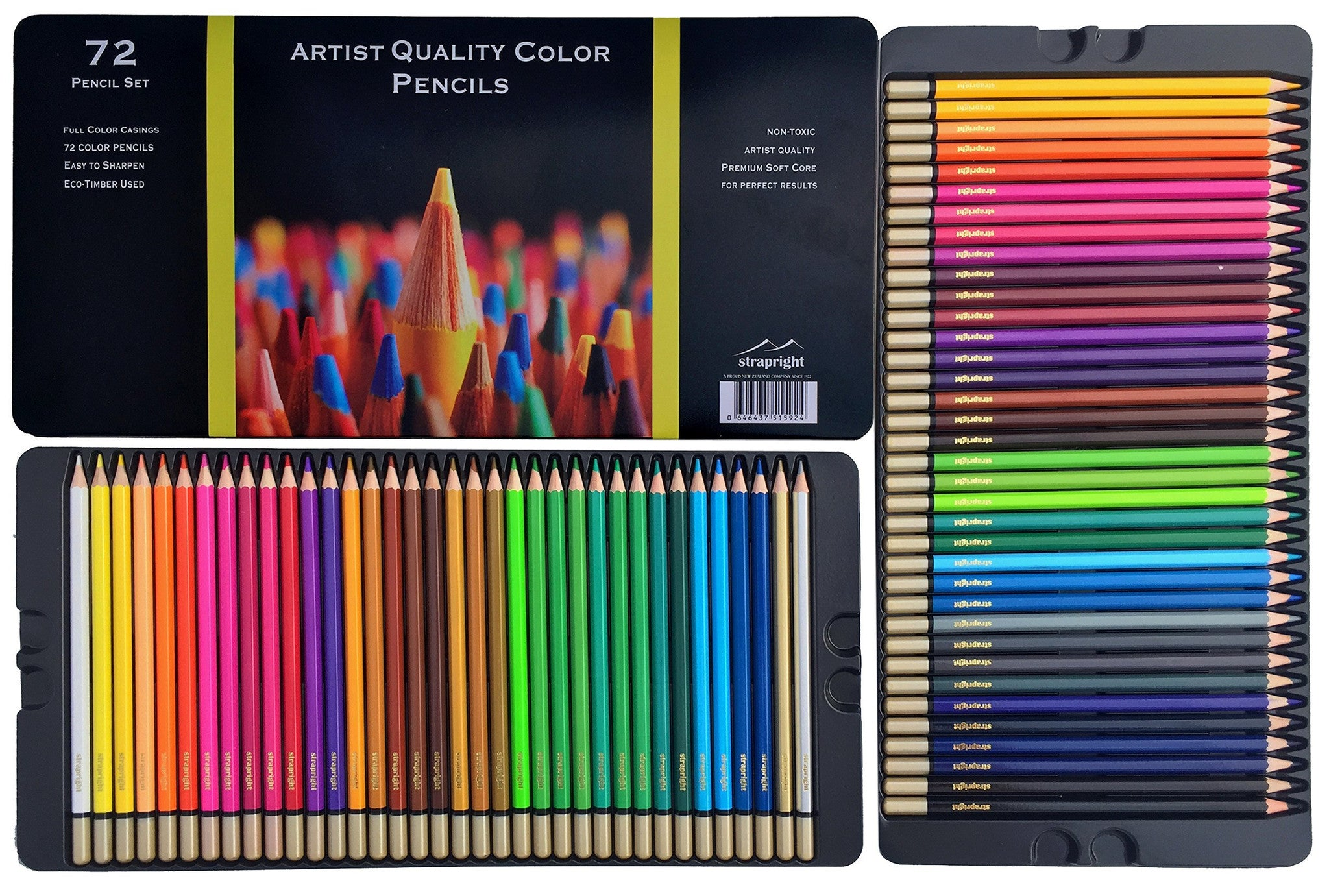 strapright premium colored pencils 72 colors colorantebook