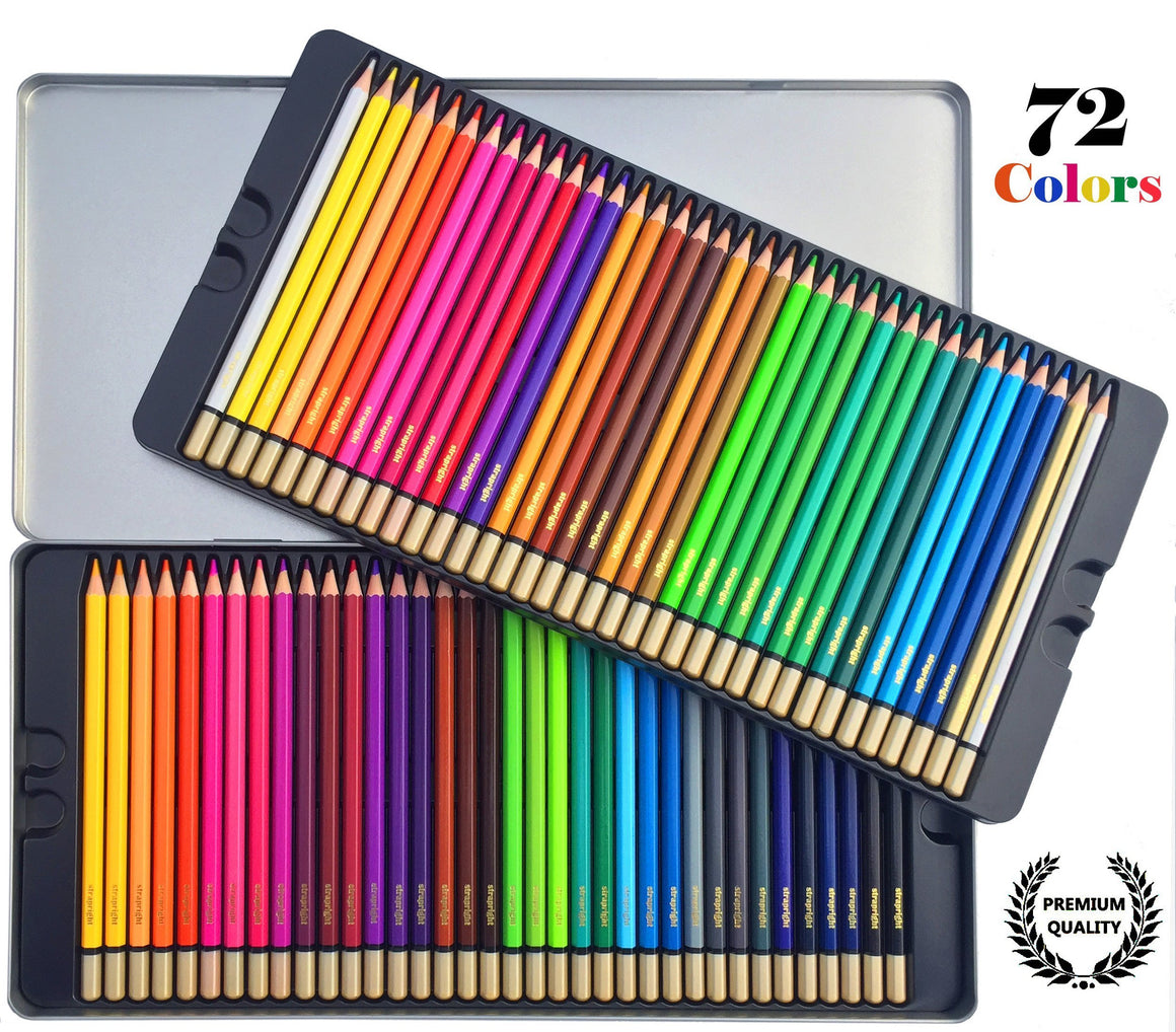 Strapright Premium Colored Pencils -72 Colors