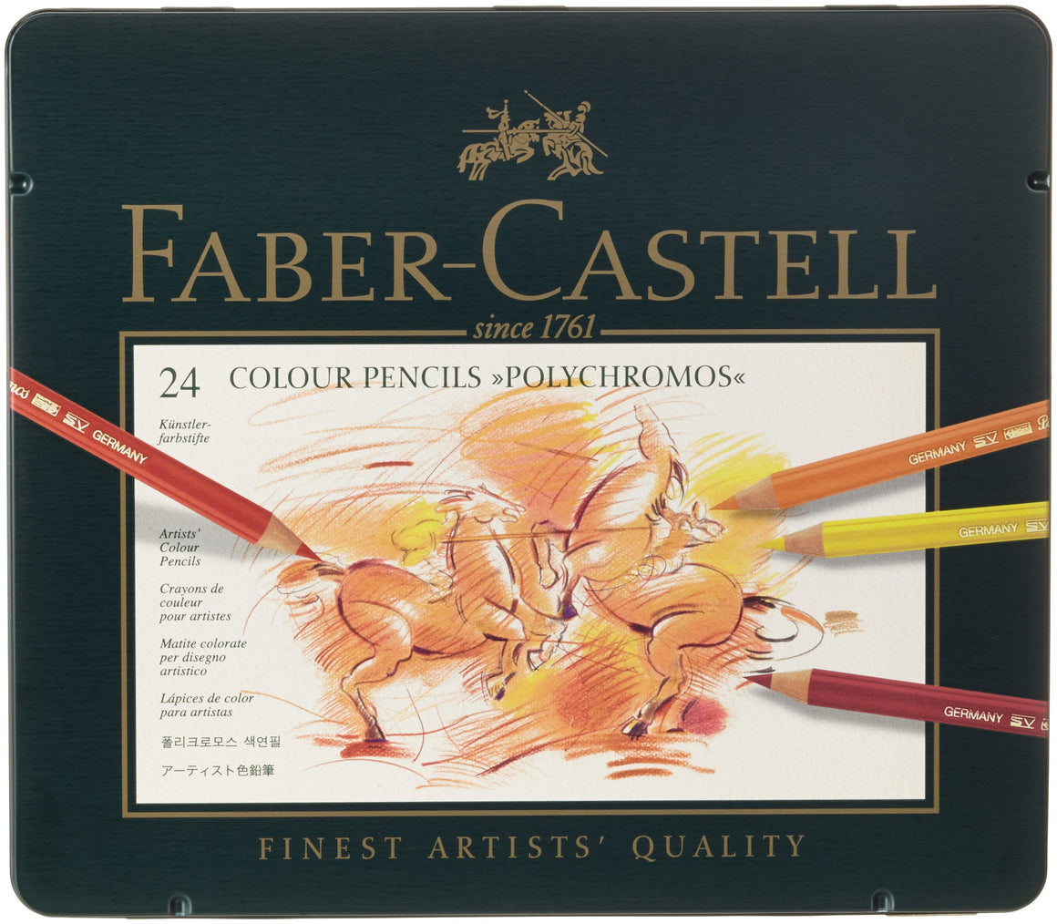 Faber-Castell Polychromous Colored Pencils 24 Pieces