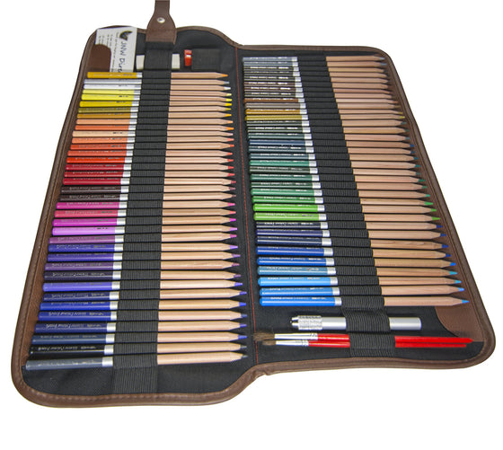 Watercolor Pencils - 72 Water Soluble Colored Pencil Set