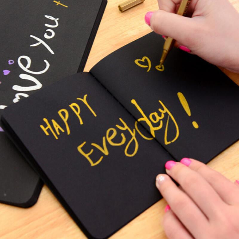 Notebook Diary Black Paper Notepad 16K 32K 56K