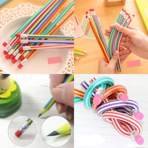 5pcs Staedtler Prismacolor Colorful Magic Bendy Flexible Soft pencils With Eraser For Kids